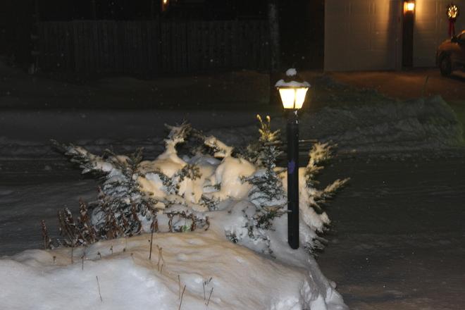 nightime scene Kirkland, Quebec Canada