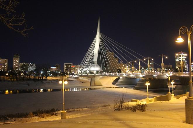 Esplanade Riel at Night Winnipeg, Manitoba Canada