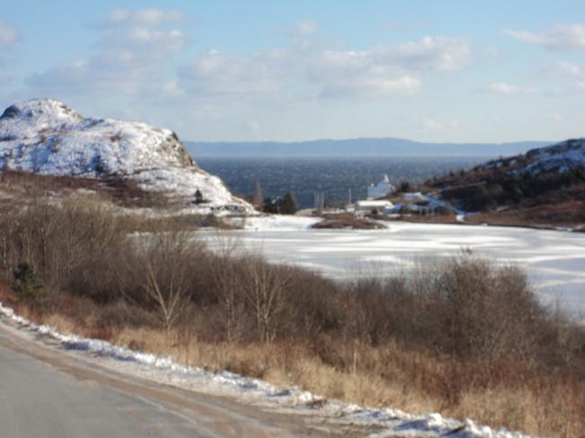Winter Scene entering Freshwater Carbonear, Newfoundland and Labrador Canada