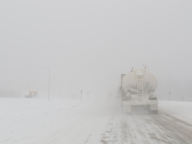 poor vivibility & poor roads Fort Mackay, Alberta Canada