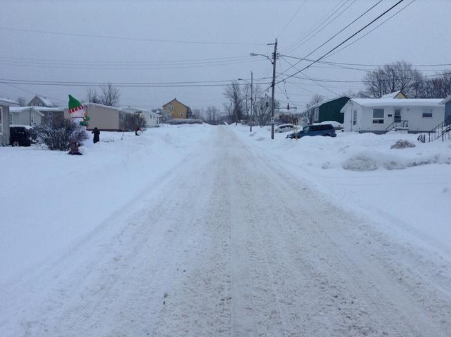street covered with snow Sydney, Nova Scotia Canada
