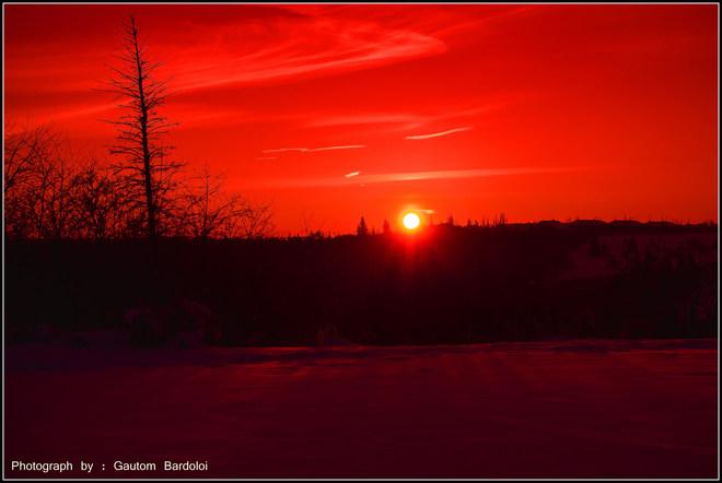Amazing Sunset Edmonton, Alberta Canada