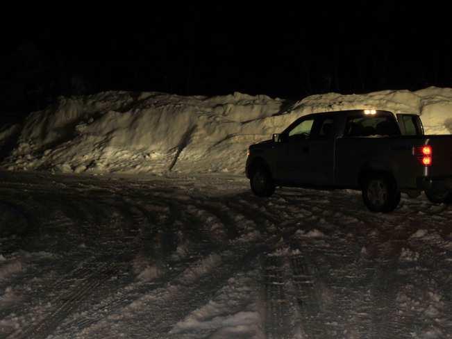 Snow wall. Flesherton, Ontario Canada