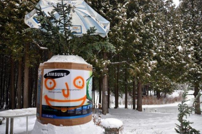 Glenn's Snowman Erin, Ontario Canada