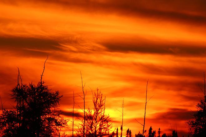 Sunset The Pas, Manitoba Canada