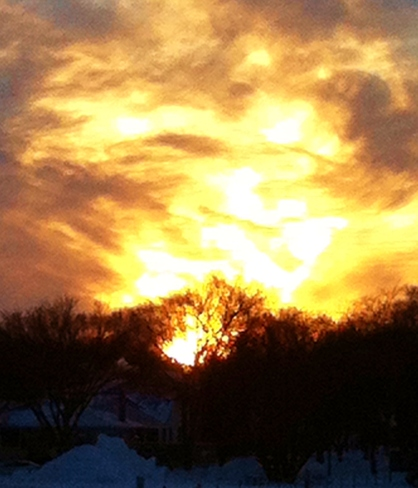 Colourful sunset Winnipeg, Manitoba Canada