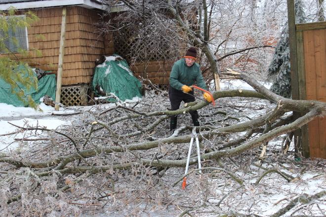 The Clean Up Begins Ajax, Ontario Canada