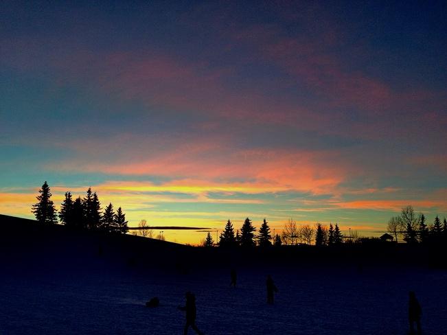 Sunset at Prairie Winds Park Calgary, Alberta Canada