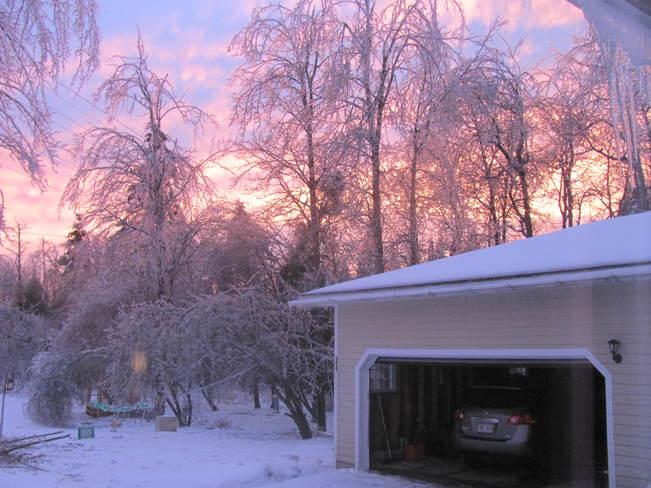Ice storm Saint John, New Brunswick Canada