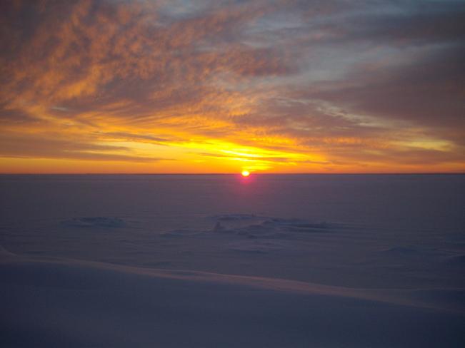 Christmas 2013 sunrise Oro Station, Ontario Canada