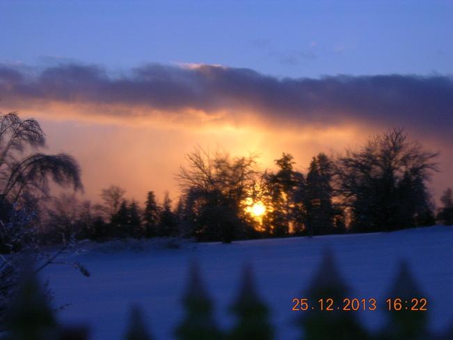 Christmas Day Sunset Salisbury, New Brunswick Canada