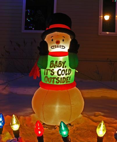 Baby, it's cold outside! Edmonton, Alberta Canada