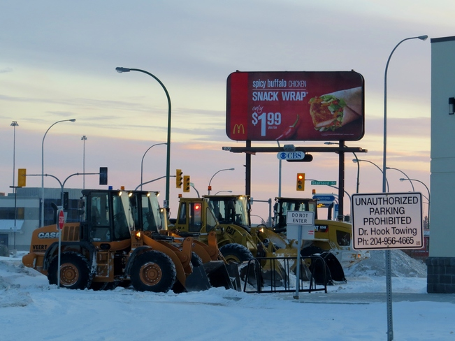 Snowploughs Winnipeg, Manitoba Canada