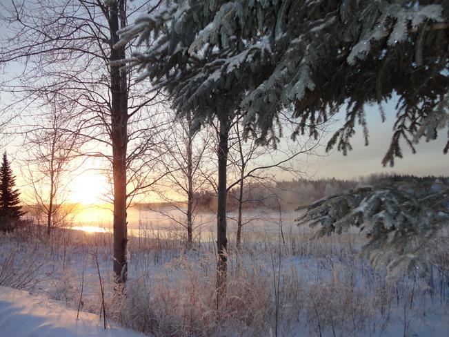 Winter Waswanipi, Quebec Canada