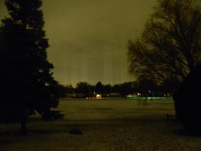 Light Pillars North Aurora, Illinois United States