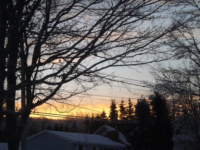 new years eve awakes New Minas, Nova Scotia Canada