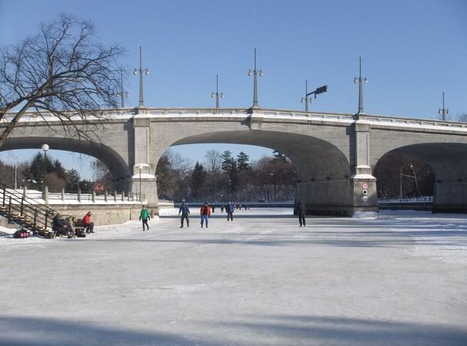 Rideau Canal skaters Ottawa, Ontario Canada