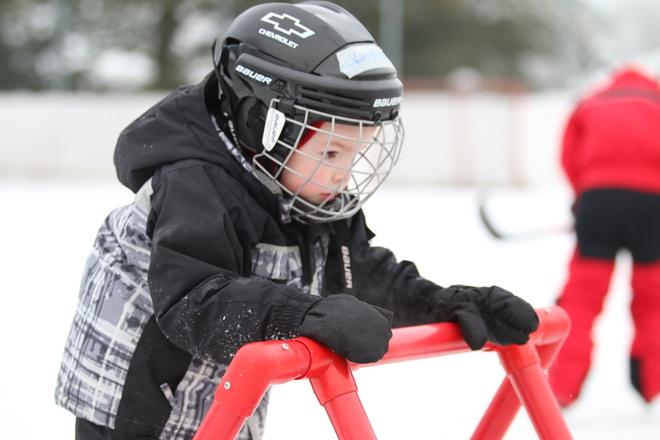 outdoor rink Enterprise, Ontario Canada