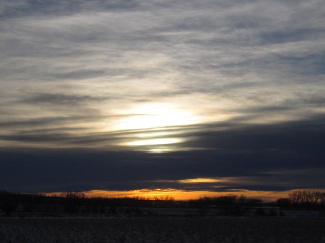 Sun Setting after a Grand Day Medicine Hat, Alberta Canada