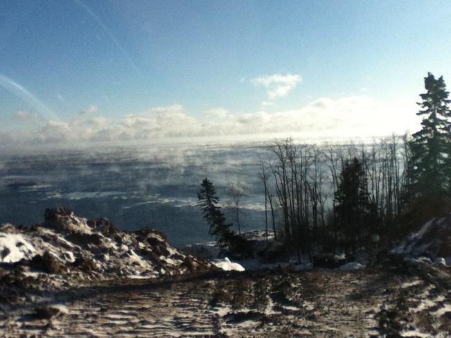 Ice forming Thunder Bay, Ontario Canada