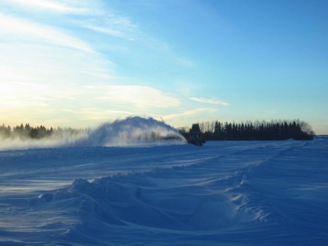 wind + snow= drifts Unity, Saskatchewan Canada