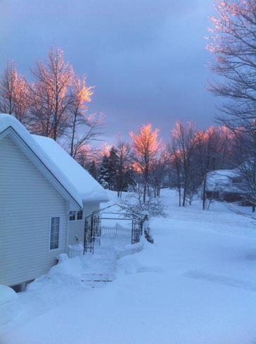 sun reflexion Moncton, New Brunswick Canada