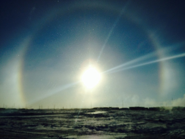 clear and cold Regina, Saskatchewan Canada