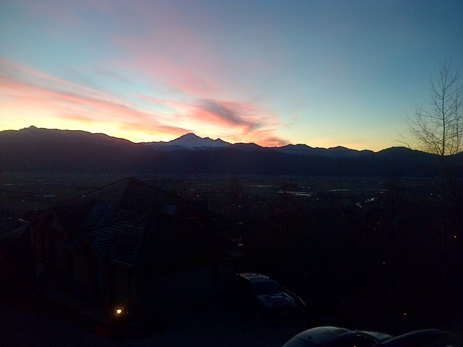 Sunrise over Mount Baker Abbotsford, British Columbia Canada
