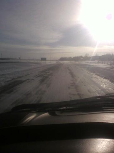 cold cold day Radisson, Saskatchewan Canada
