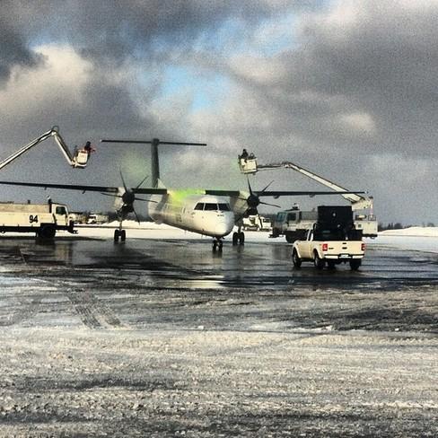 de-iceing Halifax, Nova Scotia Canada