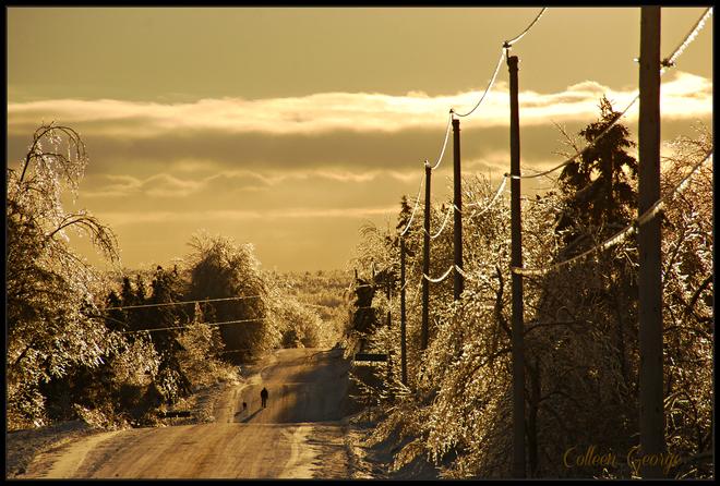 Walking the Ice Road Wolfville, Nova Scotia Canada