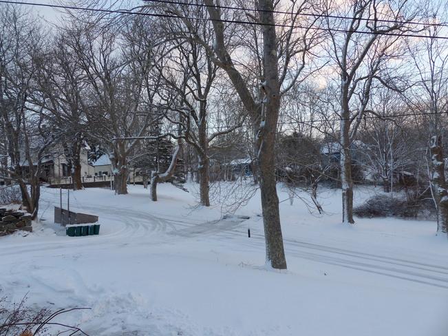 Sunny but cold Shelburne, Nova Scotia Canada