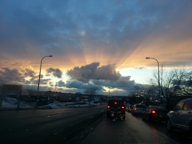 Sunset in Burnside Darmouth Burnside, Nova Scotia Canada