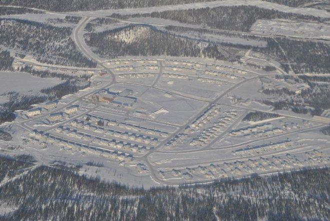 aerial view of Churchill Falls, nl Churchill Falls, Newfoundland and Labrador Canada