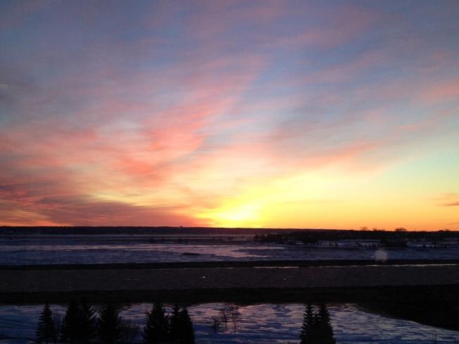 cold morning sunrise Moncton, New Brunswick Canada