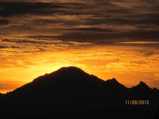 Mountain Sunrise Cloverdale, British Columbia Canada