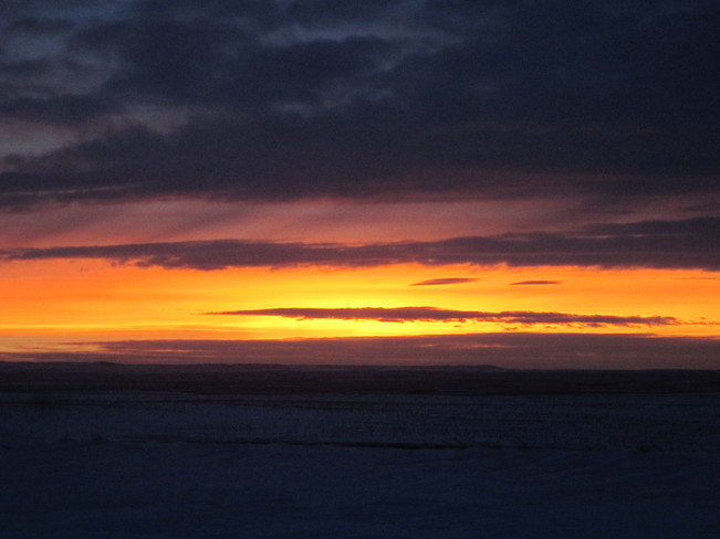 beautiful sunset Maple Creek, Saskatchewan Canada