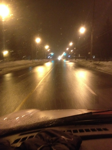 freezing rain Ottawa, Ontario Canada