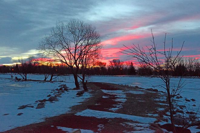 Chinook Sunrise Lethbridge, Alberta Canada