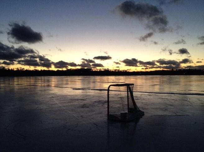 Pond Hockey Sunset Halifax, Nova Scotia Canada