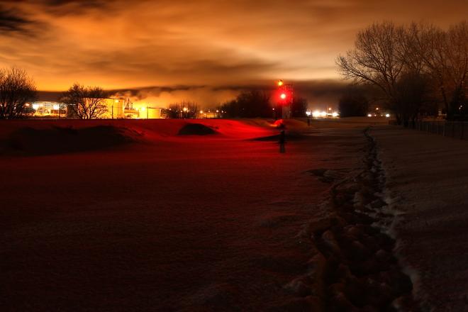 Train Light Saskatoon, Saskatchewan Canada