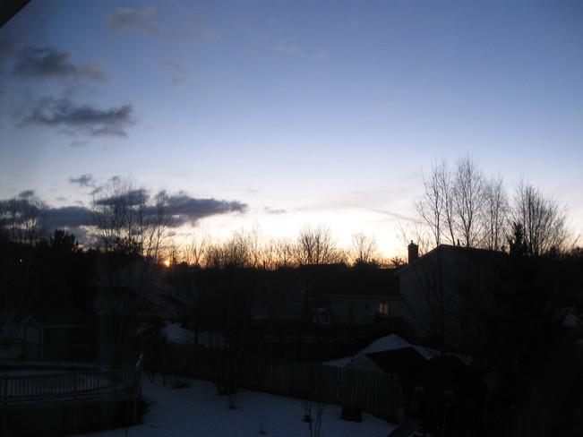 Beautiful Winter Sunrise Kingston, Nova Scotia Canada