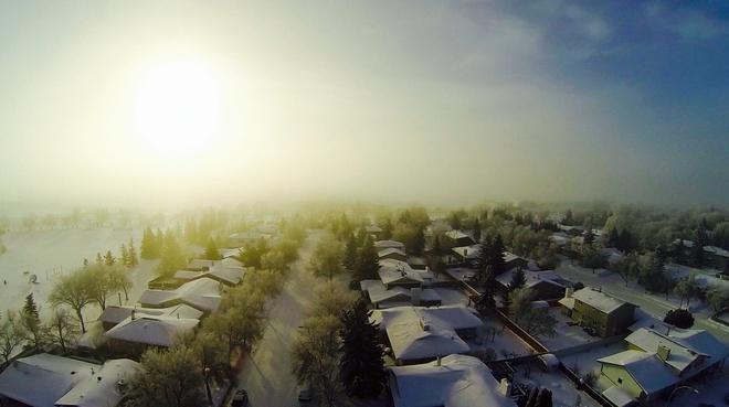morning fog Regina, Saskatchewan Canada