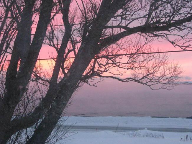 Evening sky Maces Bay, New Brunswick Canada
