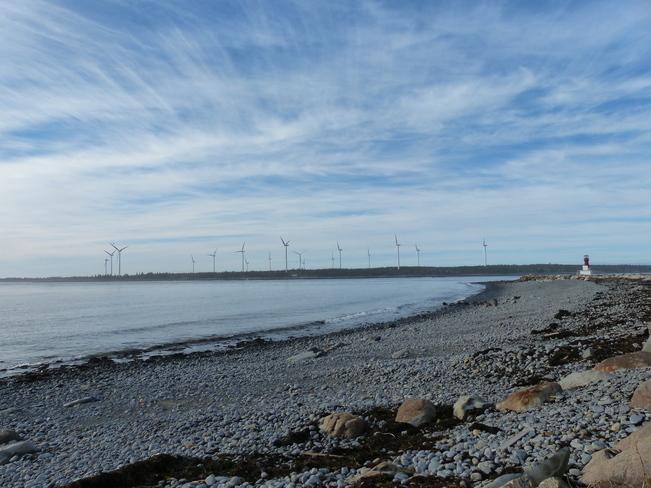 Mild afternoon Lower West Pubnico, Nova Scotia Canada