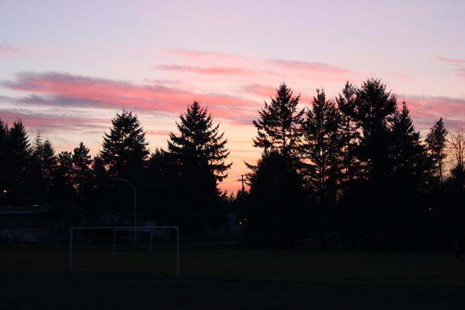 sunset Surrey, British Columbia Canada