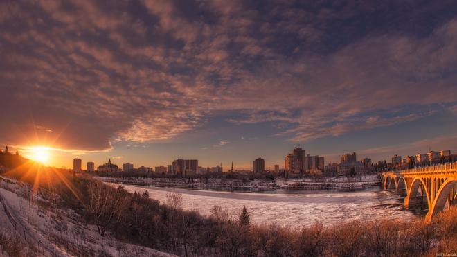 Sunset In Saskatoon Saskatoon, Saskatchewan Canada