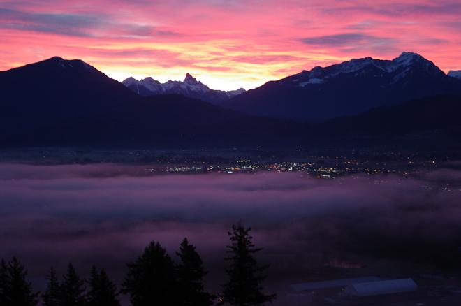 Sunrise in the valley Chilliwack, British Columbia Canada