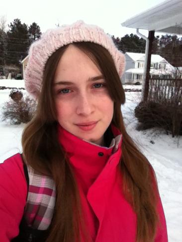 Walking to school in minus 23 Kingston, Nova Scotia Canada