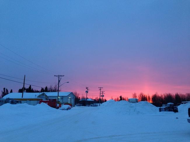Beautiful sky on a windy mornin Creighton, Saskatchewan Canada